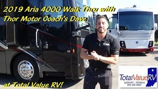 2019 Thor Aria 4000 sales training with Thor's Dave at Total Value RV!