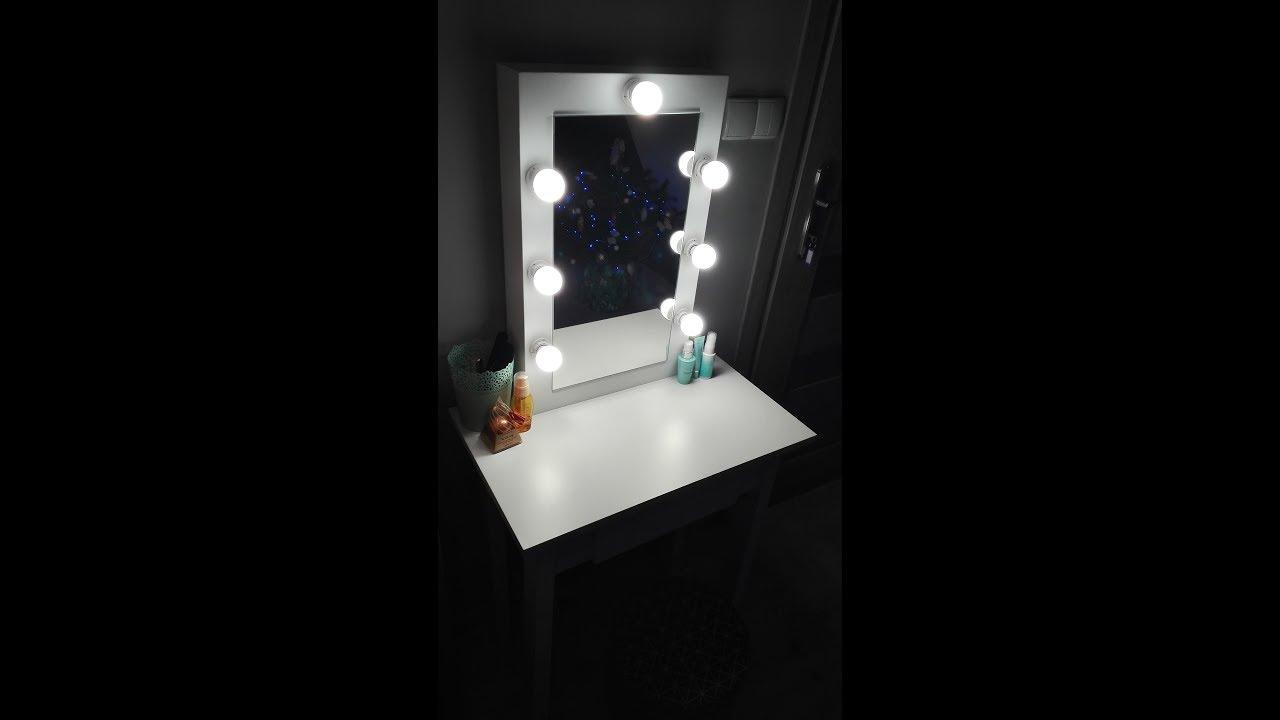 Masywnie LUSTRO MAKE UP STAND + TOALETKA - ZRÓB TO SAM DIY - YouTube HQ23