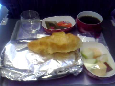 Thai airways breakfast youtube for Air thai cuisine