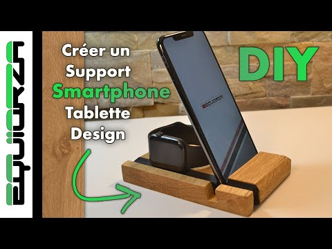 IPHONE IPAD – Création d'un support Design ! – DIY phone stand