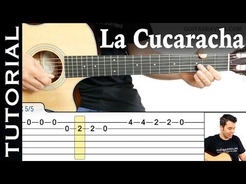 Cómo tocar La Cucaracha en guitarra (Completo) Melodía fácil  guitarraviva