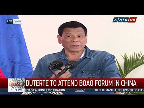 WATCH: President Duterte heads to China for Boao Forum | 9 April 2018