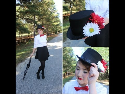 Mary Poppins Hair Makeup Outfit & DIY Top Hat