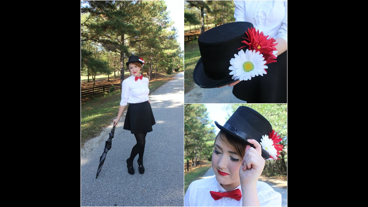Mary Poppins Hair Makeup Outfit Diy Top Hat Youtube