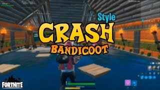 Fortnite Custom Creative Map! Crash Bandicoot Look A like Obby Map! CODE IN DESCRIPTION!!