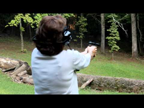 The Lighthouse Lady shooting a Glock 17  Gen4 9mm for the first time