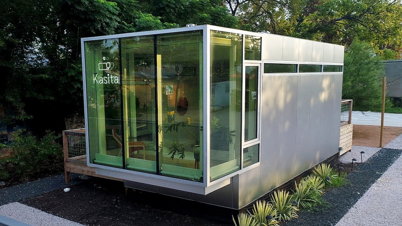 This tiny modular home adapts to your moods youtube for Prefab granny unit california