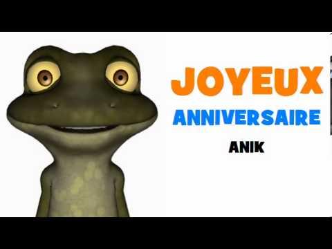 Joyeux Anniversaire Anik Youtube
