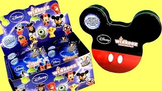 Disney Wikkeez Blind Bags SURPRISE + Mickey Mouse Wikkeez Tin Case Disney Pixar Toys Unboxing Review