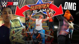 The most intense CAW match, EVER! Leads to a turn of events? (WWE 2K19 Online Universe - SummerSlam)