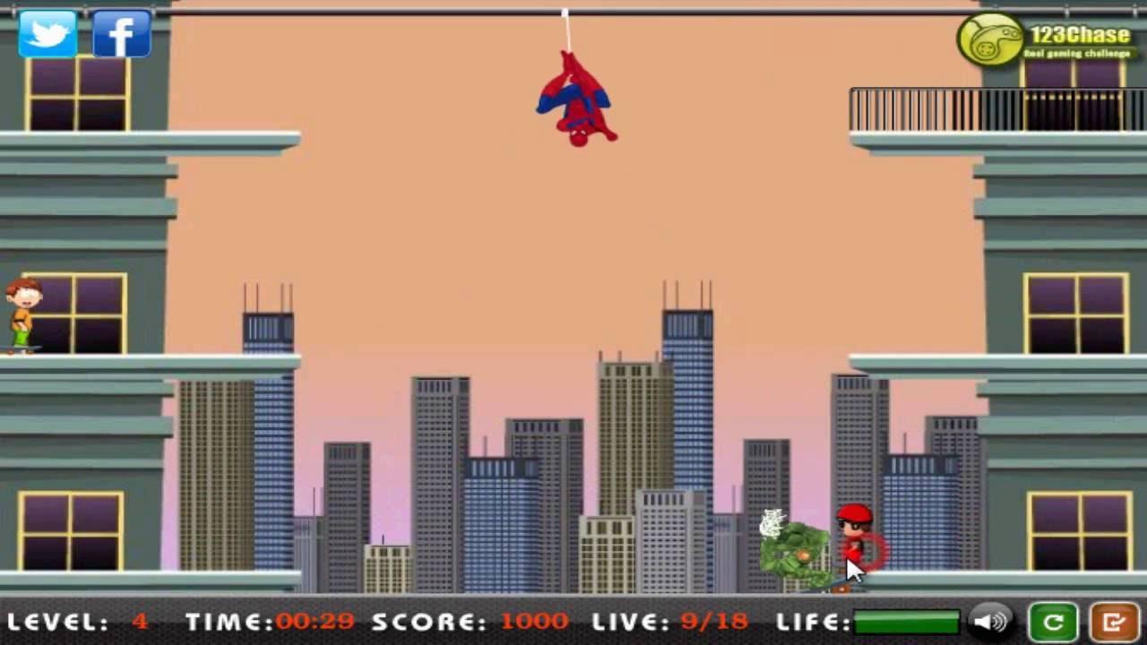 Hướng dẫn chơi game Người nhện giải cứu – SPIDER MAN RESCUE trên Game Vui