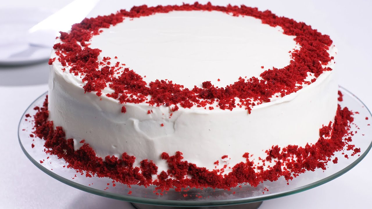 Heart Shaped Red Velvet Cake Recipe