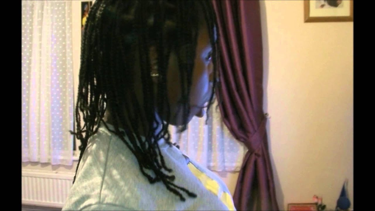 Natural Hair Box Braids No Extensions Pt1 Youtube