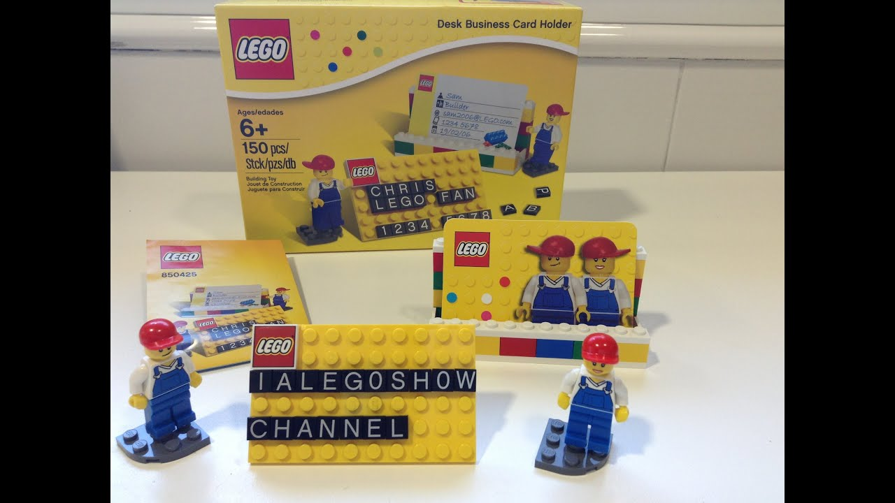 Lego Desk Business Card Holder REVIEW - YouTube