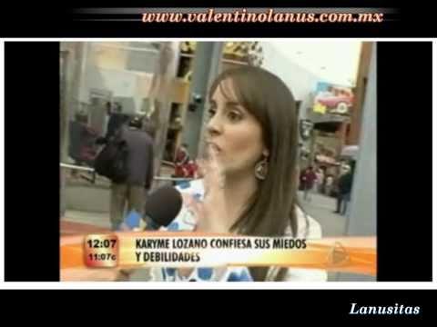 Karyme Lozano confiesa su cariño por Valentino Lanús