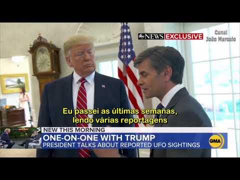 Presidente Trump Fala Sobre OVNIs Pela 1a Vez