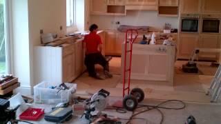 Painted Cabinet Kitchen Installation