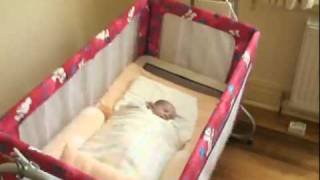 2-in-1 Automatic Swinging Cradle And 2-storey Cot