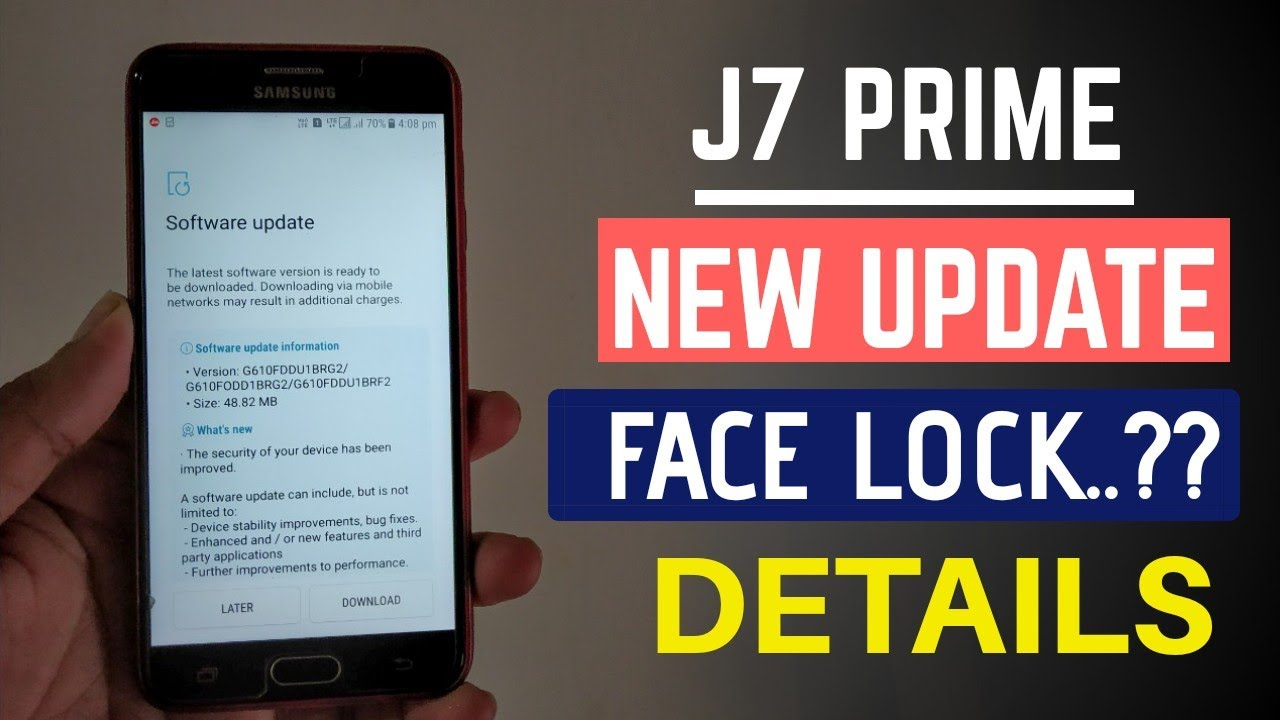 Samsung Galaxy J7 Prime Get New Update | J7 Prime Face Lock | Details In  Hindi | Techno Rohit |