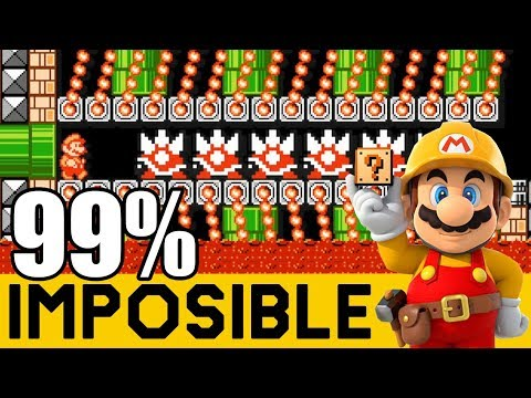 Mis Dedos Apenas Aguantan: Fire Field 88 (0.01% Clear Rate) - 99% IMPOSIBLES #64   Mario Maker