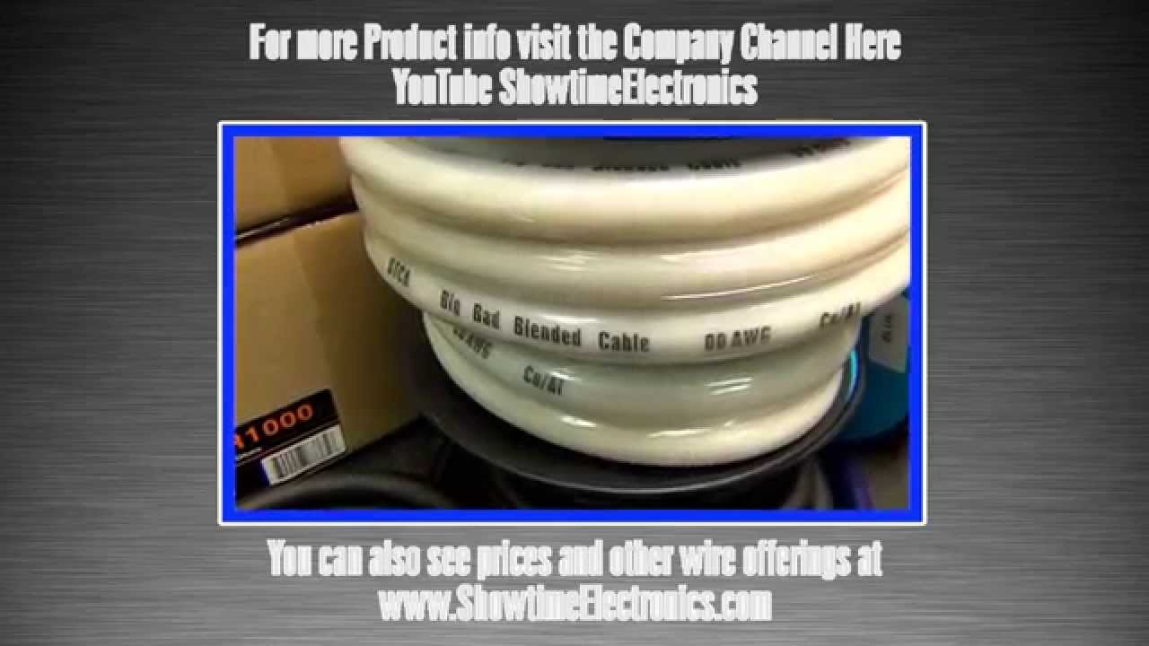 New Double 00 Gauge Power Wire - YouTube