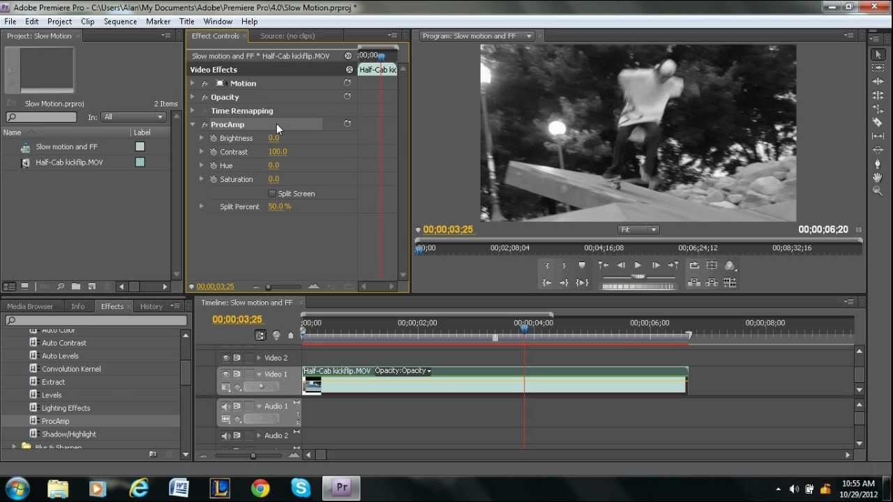 How to make a video black white in adobe premiere pro youtube