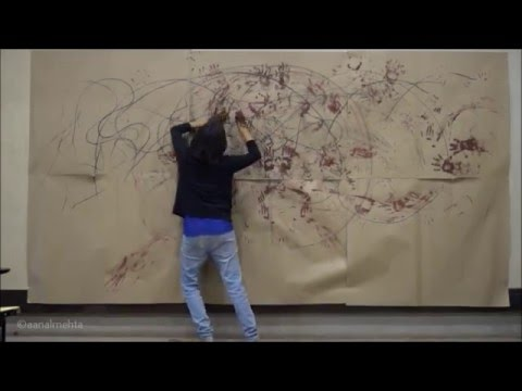 Dance Art Exploration With Body Movement Lines Strokes And Prints Youtube