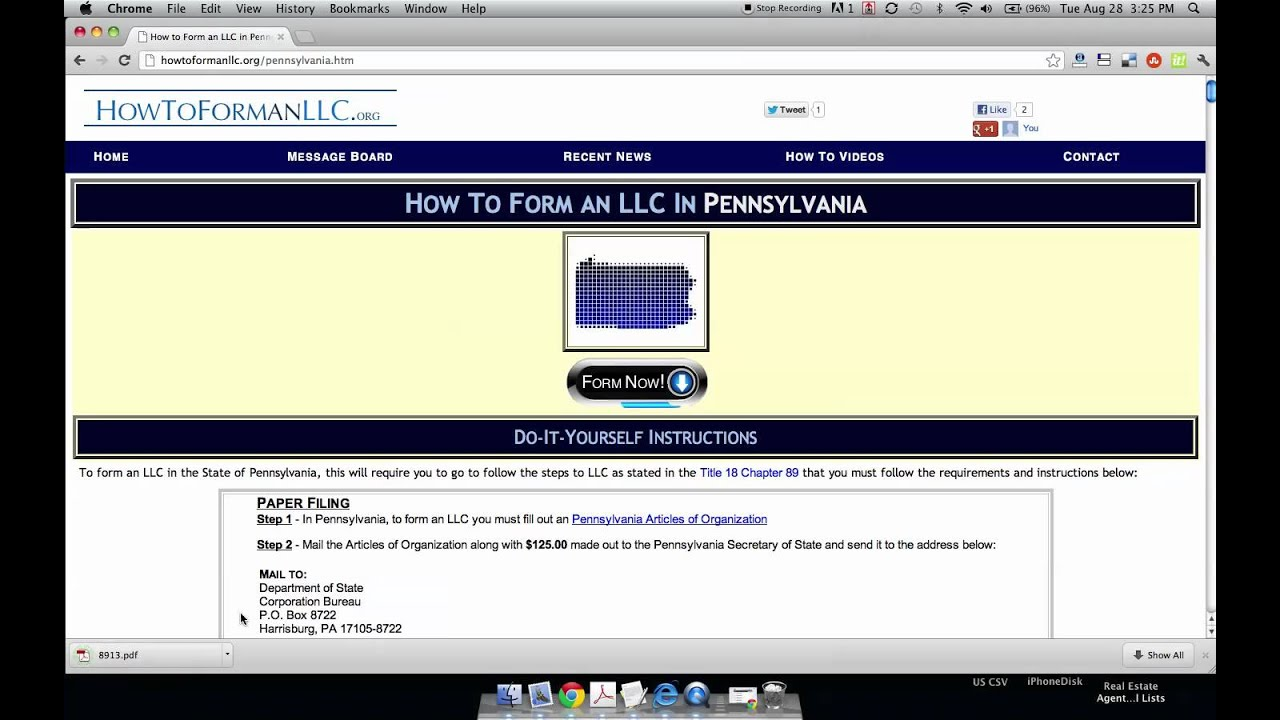 How to Form an LLC in Pennsylvania - YouTube