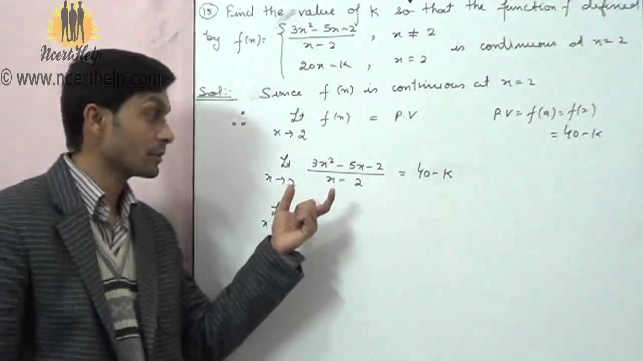 Cbsc board class 12 important formulas continuity and differentiability  Question 5