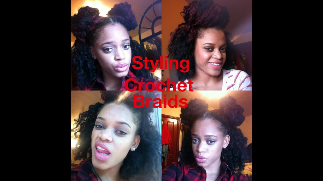 Crochet Hair In A Bun : Crochet Braids - Bun Hairstyles - YouTube