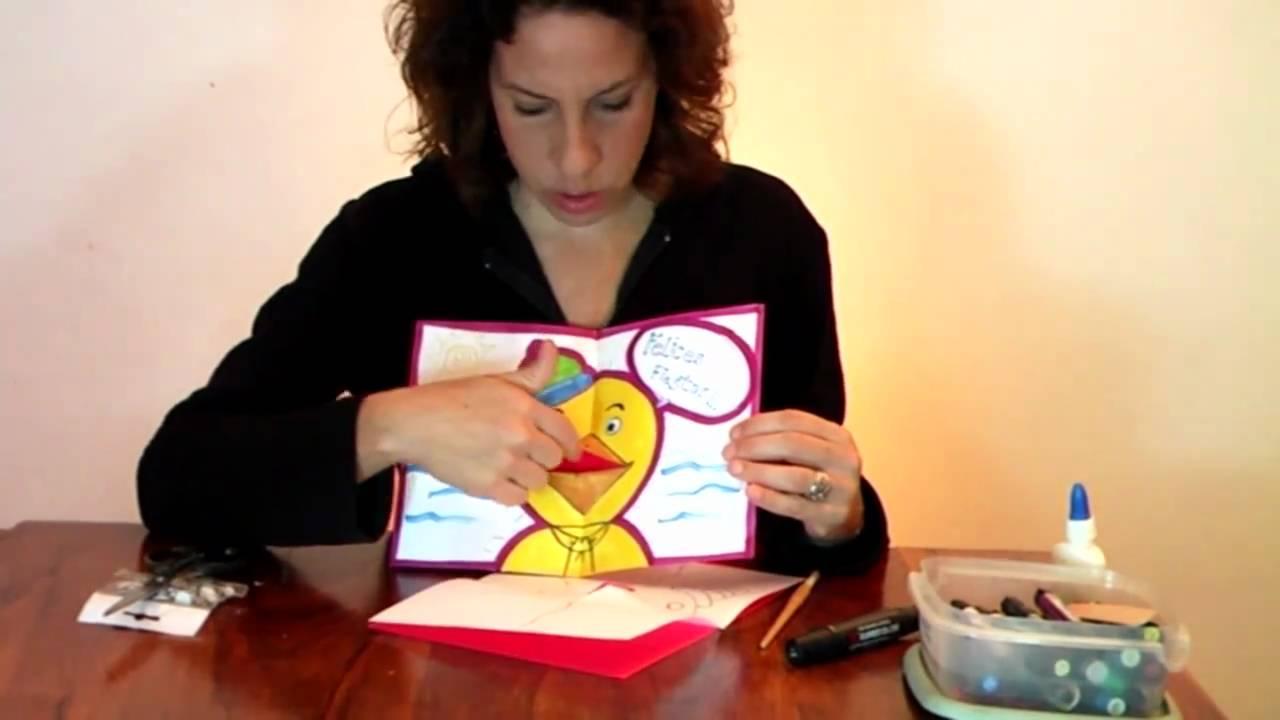 Tarjeta 3D de felicitación Manualidades para todos YouTube