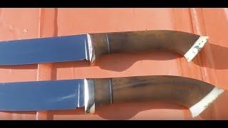 нож из ржавого подшипника 2 часть
