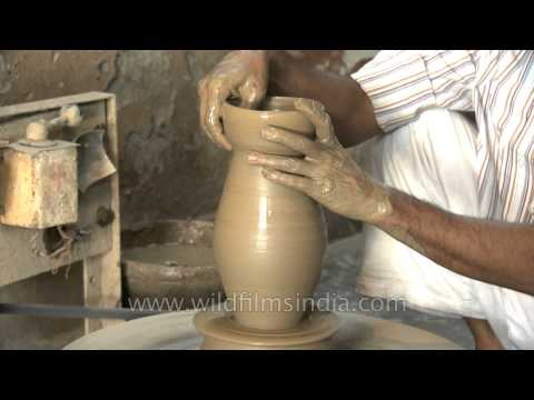 Conventional way of pottery making