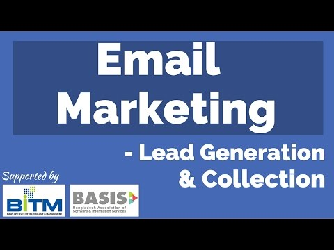Email Marketing & Lead Generation Bangla Tutorial 2016 : Episode 01 ||| BITM, BASIS