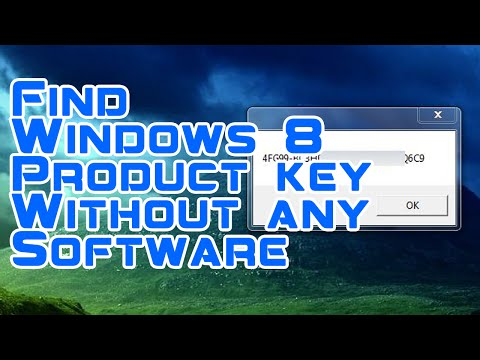 How To Find Windows 8 Product Key On Computer