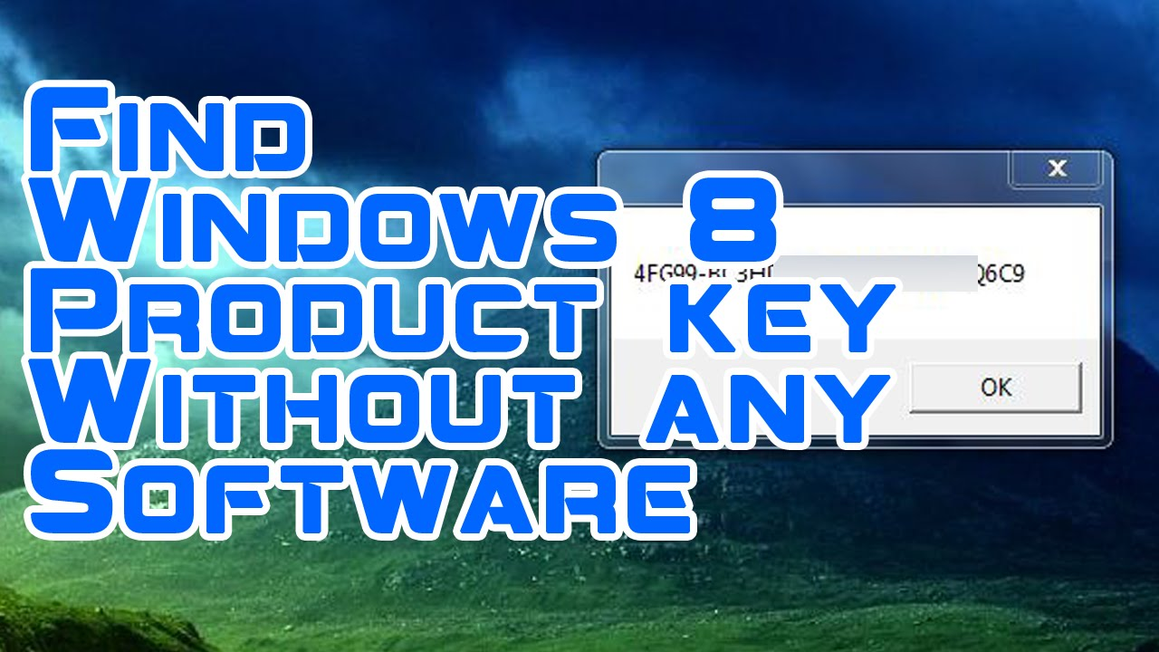 how to find product key for windows 8