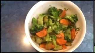 #Салат из брокколи с овощами. #Видеорецепт.