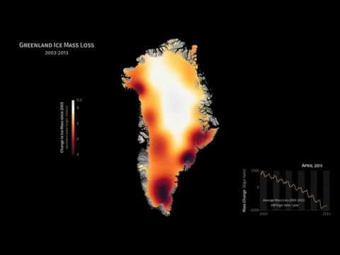Greenland ice mass loss 2003-2013