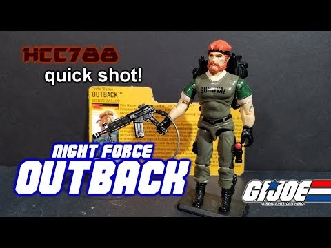 HCC788 quick shot! NIGHT FORCE OUTBACK! - Vintage G.I. Joe toy!