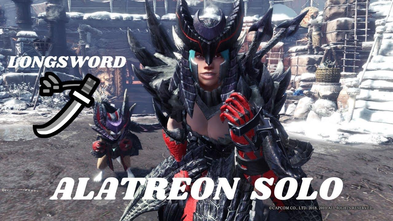 Alatreon Longsword Solo Monster Hunter World Iceborne Youtube