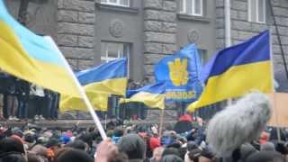 Revolution in Kiev, Ukraine. 1 December 2013. Storming the Administration of President