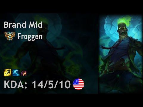 Brand Mid vs Gangplank - Froggen - NA Challenger Patch 6.17