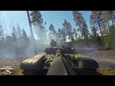 T-72M1 MBT Cannon Stabilization In Action - Cannon Rear Camera #4 - Set I - Parola Armour Museum