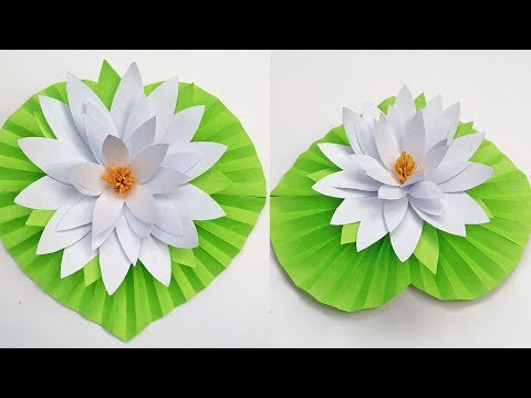 How to make water lily flower with paper  |  DIY paper Water Lily