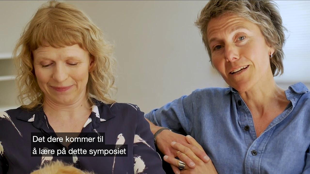 Kjersti Gulliksen og Margrethe Seeger Halvorsen  promoterer Psykologikongressen 2019
