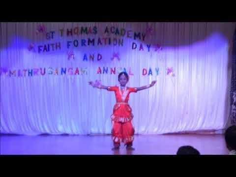 Eshwarane Thedi Njan Dance   St Tomas Academy 2017   St Joseph Church Airoli