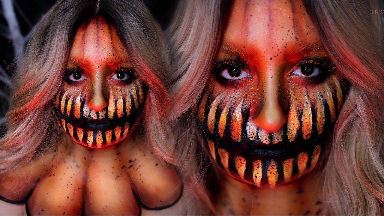 PUMPKIN QUEEN | Halloween Costume Makeup Tutorial | 31 Days of ...