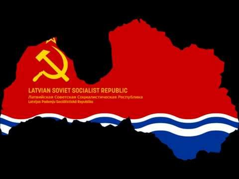 Anthem of the Latvian Soviet Socialist Republic (1940–1990) [HD]