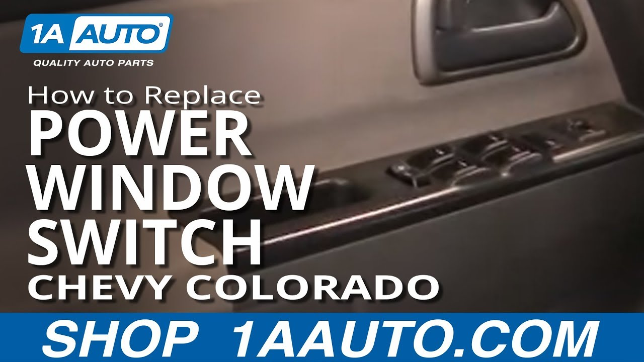 hight resolution of how to install replace master power window switch chevy colorado 04 power window switch diagram colorado window switch wiring diagram