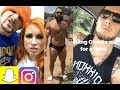 WWE Snapchat/IG Moments ft. Becky Lynch, Alexa Bliss, Baron Corbin, Rusev, Tyler Breeze n MORE